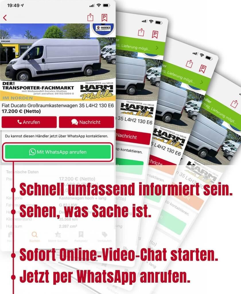 Jetzt Online-Vorführung starten und unseren Verkauf kontaktieren.